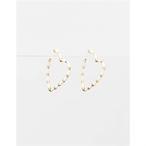 White/Gold Heart Earrings-shop-by-brand-Moda Bella Shoes